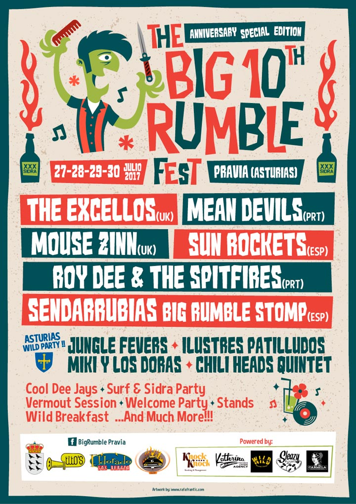 The Big 10th Rumble Festival Poster